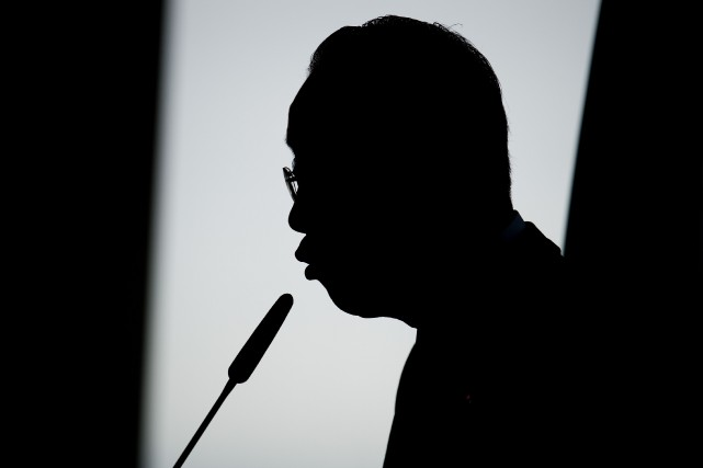 Ban Ki-Moon au cours d'un discours prononcé à... (Photo AFP)
