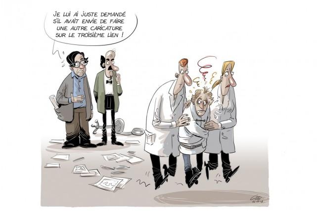 Caricature du 11 octobre... (Le Soleil, André-Philippe Côté)