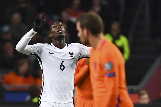 Paul Pogba a tiré un boulet de canon... (Photo AFP)