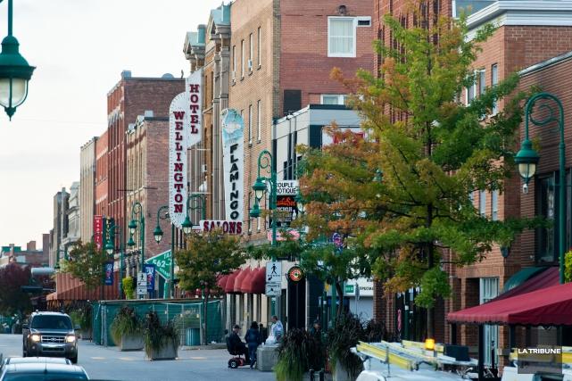 La rue Wellington Sud, Sherbrooke.... (Archives La Tribune, Jessica Garneau)