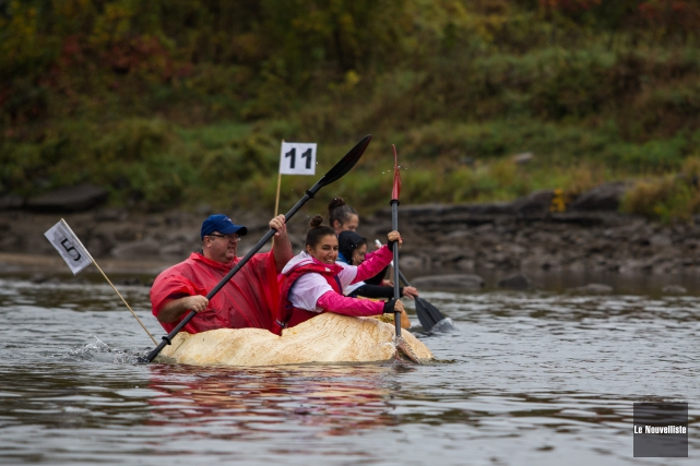 La course des régates du Potirothon de Gentilly.... (Olivier Croteau, Le Nouvelliste)
