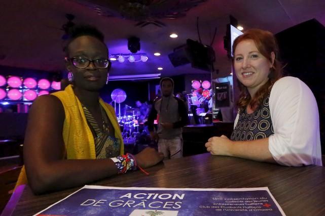 Kadé Rémy, à gauche, est l'une des organisatrices... (Simon Séguin-Bertrand, LeDroit)