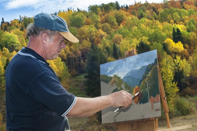 Les artistes présents au Symposium provincial des Villages...