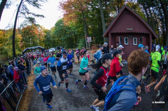 Un total de 2130 coureurs ont participé au... (Olivier Croteau, Le Nouvelliste)