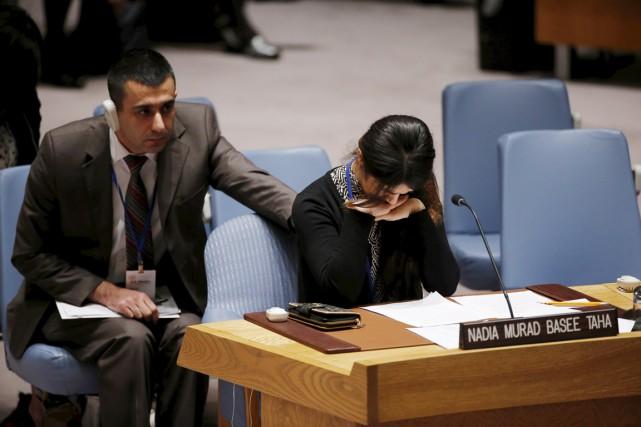 Parmi les finalistes figure Nadia Murad Basee, une... (photo Eduardo Munoz, archives REUTERS)