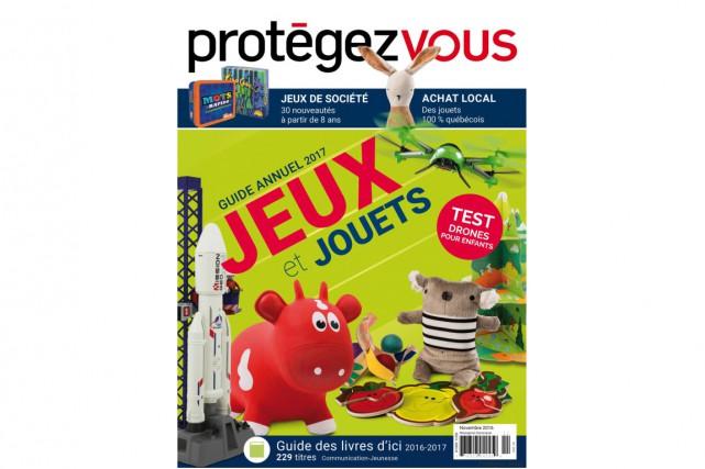 La 33e édition du guide annuel Jeux et jouets de Protégez-Vous comprend... (CAPTURE D'ÉCRAN)