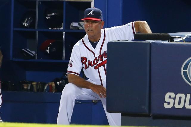 Le gérant des Braves d'Atlanta, Brian Snitker.... (Photo Todd Kirkland, AP)
