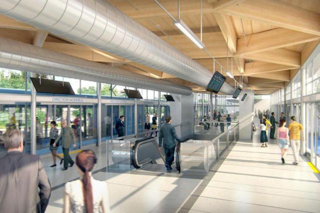 Le réseau électrique métropolitainest un projet de train... (image fournie par CDPQ Infra)
