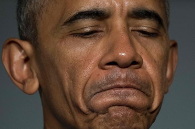 Le président américain Barack Obama... (PHOTO  JIM WATSON, AFP)