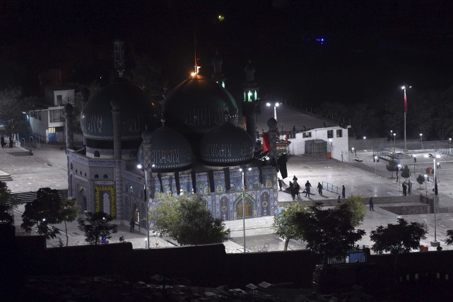 La mosquée de Kahte Sakhi, où s'est produite... (AFP, Wakil Kohsar)
