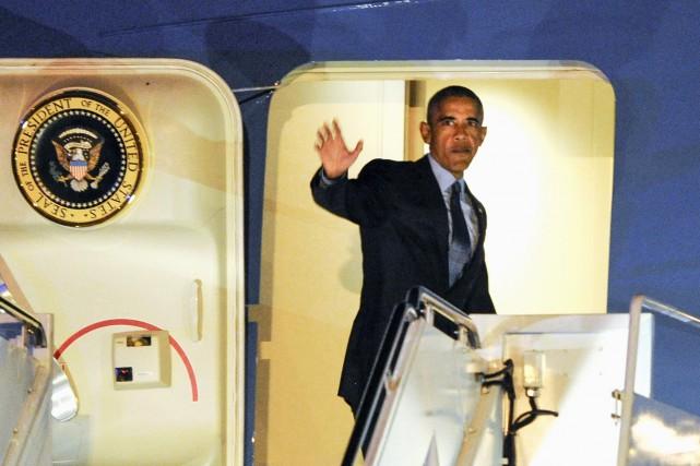 Barack Obama n'a rien dit des coûts d'une... (AP, Mike McCarn)