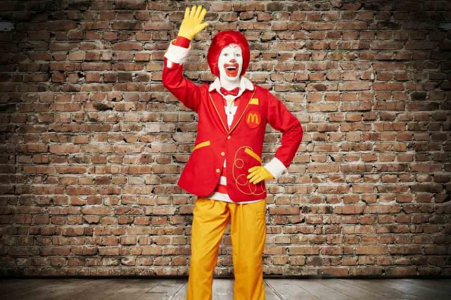 Victime inattendue du phénomène des clowns sinistres :... (photo mcdonald's/AP)