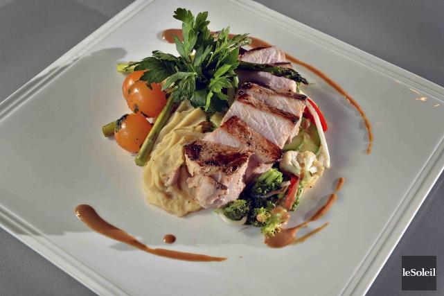 Porc pour emporter du Galopin. Le menu à25$... (Le Soleil, Patrice Laroche)