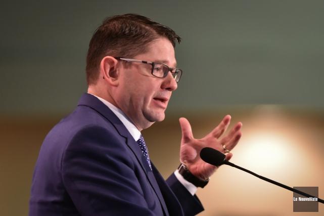 Le président-directeur général d'Hydro-Québec, Éric Martel, a parlé... (François Gervais, Le Nouvelliste)