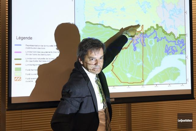 Martin Gauthier, recteur de l'UQAC et président du... (Photo Le Quotidien, Rocket Lavoie)