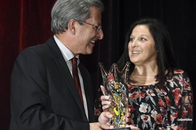 Chantale Poirier a été nommée Ambassadrice de l'année... (Photo Le Quotidien, Rocket Lavoie)