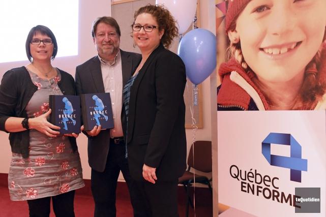 L'organisme Québec en Forme a procédé au lancement... (Photo Le Quotidien, Rocket Lavoie)