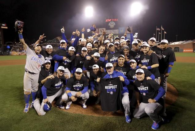 Les Cubs de Chicago ont éliminé les Giants... (AP, Marcio Jose Sanchez)