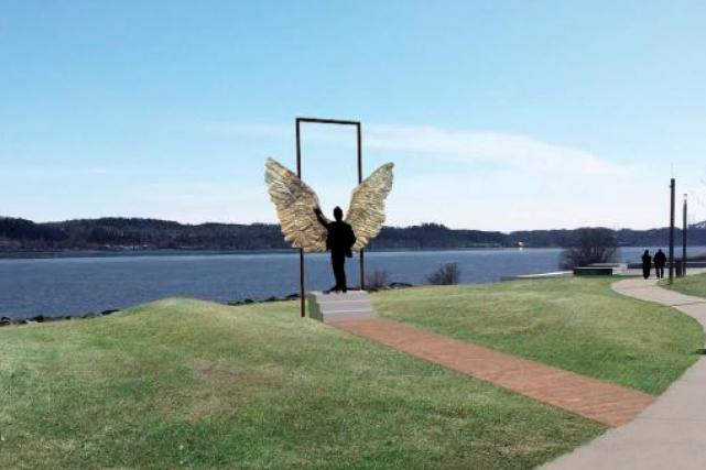L'oeuvre qui sera installée sur la promenade Samuel-De... (Image fournie par le gouvernement du Québec)