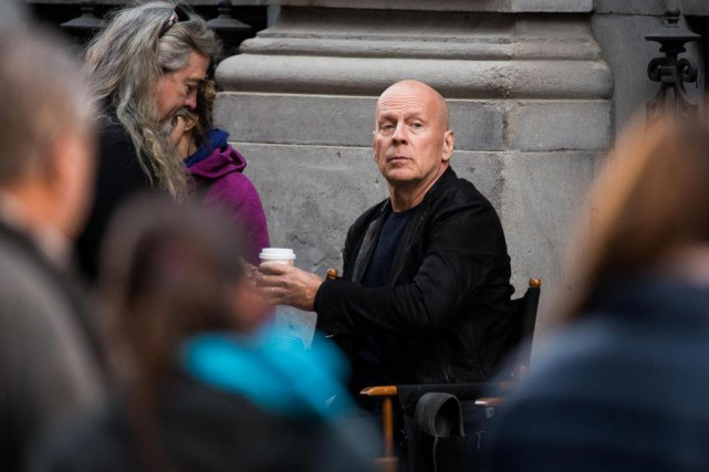 Bruce Willis participe au tournage de Death Wish à... (Photo OLIVIER PONTBRIAND, LA PRESSE)