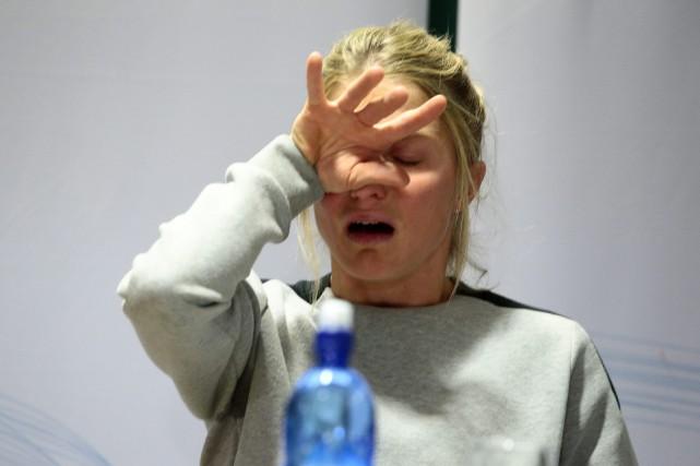 La fondeuse norvégienne Therese Johaug a éclaté en... (Photo Hakon Mosvold Larsen, AP)