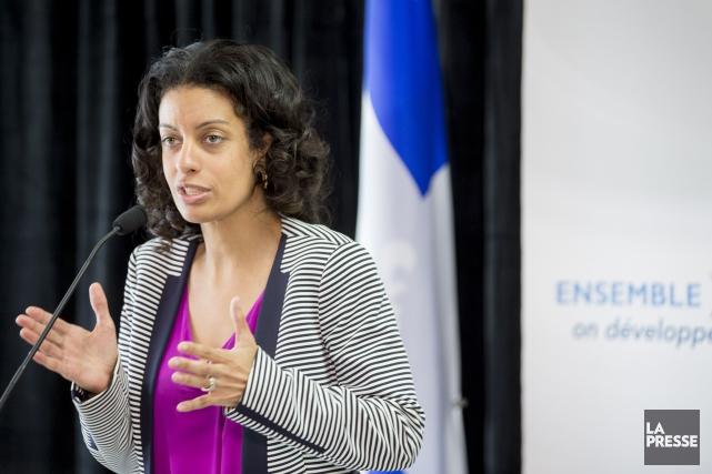 La ministre québécoise de l'Économie Dominique Anglade... (PHOTO MARCO CAMPANOZZI, LA PRESSE)