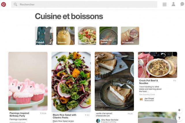 Le service en ligne américain Pinteres permet à... (Tirée de Pinterest)