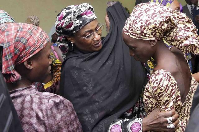 Dans une image fournie par le gouvernement nigérian,... (AP)