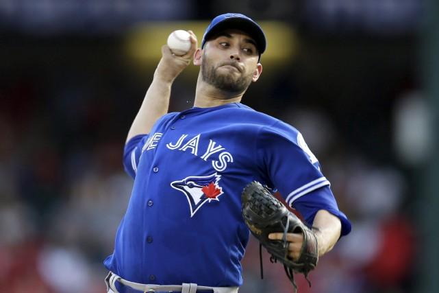 Le lanceur Marco Estrada, des Blue Jays... (Archives La Presse canadienne)