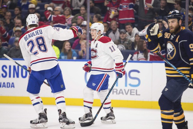 Brendan Gallagher a eu l'honneur d'inscrire le premier... (Geoff Robins, Associated Press)