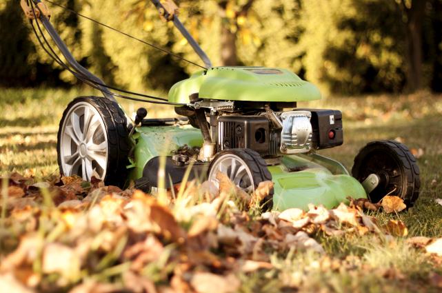 On peut facilement déchiqueter les feuilles qui tombent... (Photo 123RF/Petr Konecny)