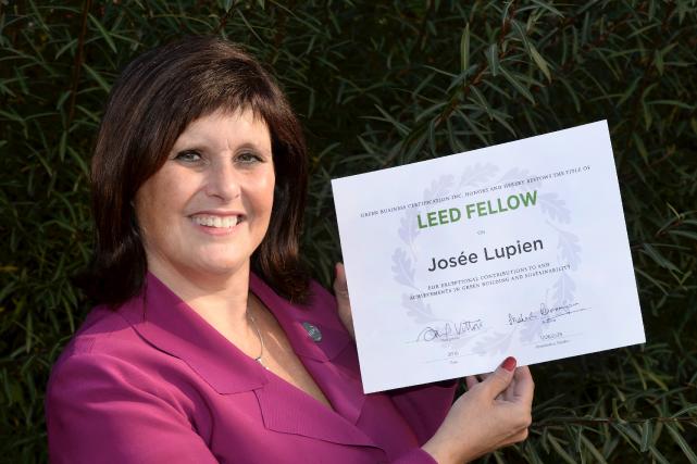 «Avec le titre de LEED Fellow, je me... (Le Soleil, Jean-Marie Villeneuve)