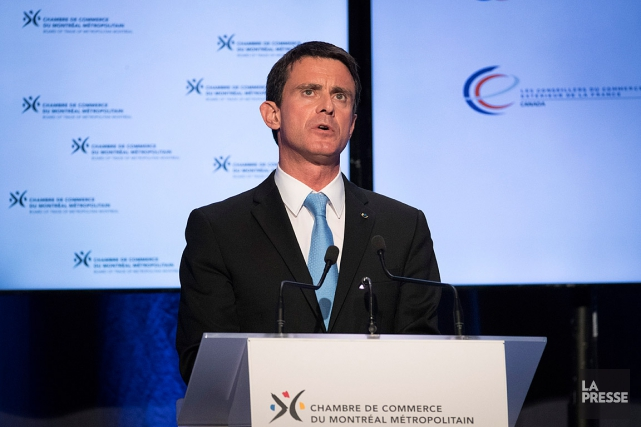 Le premier ministre fran ais manuel valls en visite for Ministre francais