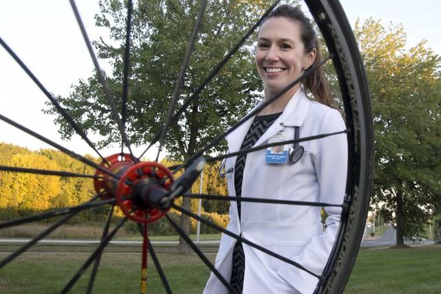 La DreKarine Tousignant a découvert le vélo en... (Le Nouvelliste, Sylvain Mayer)