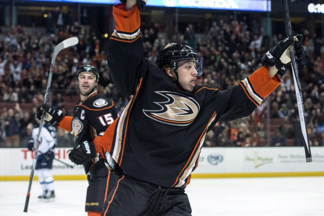 Rickard Rakell a récolté 43 points en 71 matchs... (Photo archives AP)