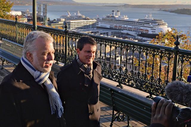 Le premier ministre français, Manuel Valls,a commencé sa... (Le Soleil, Patrice Laroche)