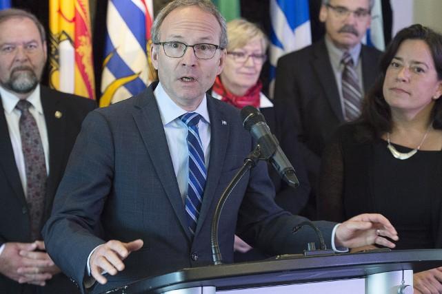 Le ministre québécois de la Sécurité publique, Martin... (PHOTO Andrew Vaughan, PC)