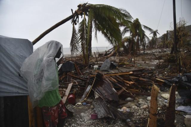 Plus de 175 500 Haïtiens sinistrés sont encore... (AFP, Hector Retamal)