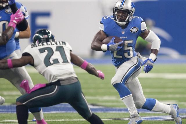Theo Riddick... (PHOTO Raj Mehta, USA Today Sports)