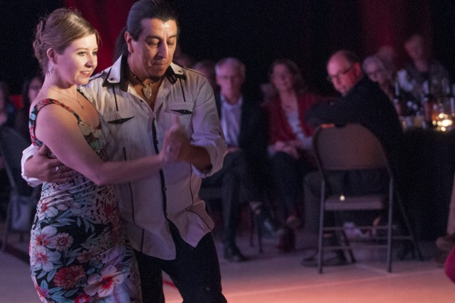 Saint-Fulgence,festival tant aux foins,Luis Lopez, et Marika Landry... (Michel Tremblay)