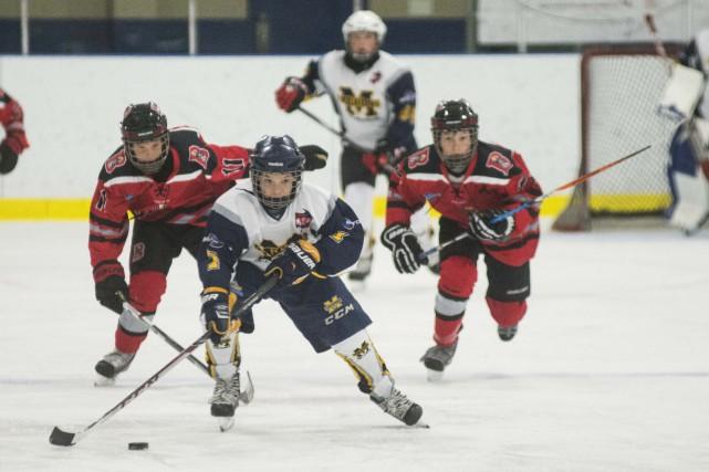 Les activités de la Ligue de hockey benjamine... (Spectre Média, Julien Chamberland)
