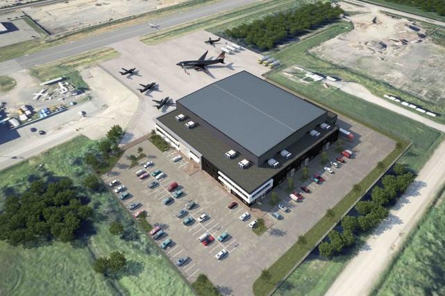 Le projet de centre de services aéronautiques de... (Fournie par Chrono Aviation)