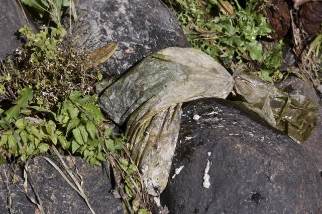 Le sac contenant des cendres humaines a été... (François Gervais)