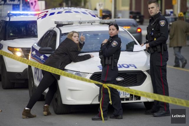 L'homme soupçonné par la police d'avoir poignardé une femme en plein jour dans... (Martin Roy, Archives LeDroit)