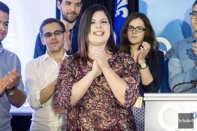 Ariane Cayer, de l'aile jeunesse du PQ, voudrait... (Photothèque Le Soleil)
