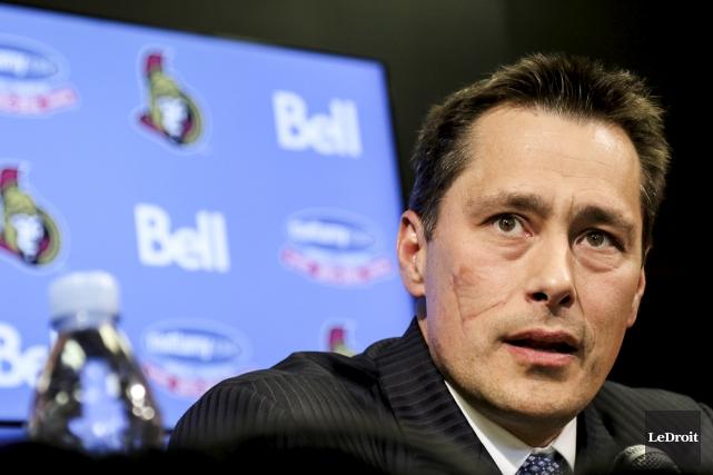 Dans son rôle d'entraîneur-chef des Sénateurs d'Ottawa, Guy... (Archives, Le Droit)