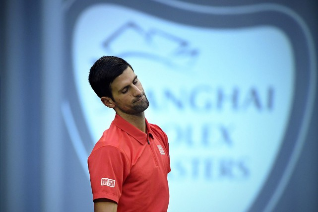 NovakDjokovic visait un quatrième trophée pour son retour... (PHOTO WANG ZHAO, AFP)