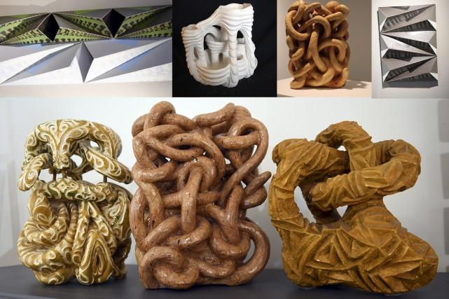Quelques sculptures réalisées par Hervé Leclerc font partie... (Photos Le Progrès-Dimanche, Rocket Lavoie)