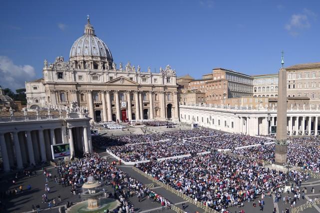 La place Saint-Pierre, au Vatican.... (Photo AFP)