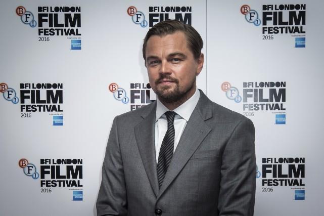 Leonardo DiCaprio a présenté à Londres le documentaire... (AP, Vianney Le Caer)